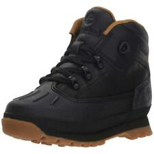 Timberland Kids Toddlers Euro Hiker Shell Toe Waterproof Baby Boots NEW Black