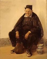 Oil painting jose benlliure y gil - Uncle Jose Villar of the Archbishop canvas