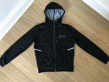 MEN'S HUGO BOSS JACKET HOODIE. SIZE M. REGULAR FIT. EXCELLENT CONDITION. BLACK.