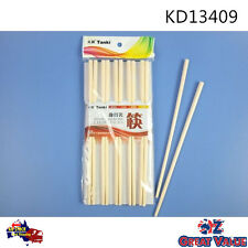 Pack of 10 Pairs Melamine Chopstick 24cm Length White Kitchen Dining KD13409