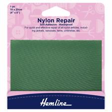 Hemline Self Adhesive Nylon Repair Patch Green - 10x20cm Coat Tent Umbrella H689