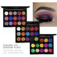15*Eyeshadow Cosmetic Makeup Set Shimmer Glitter Eye Palette Powder Shadow X0E8