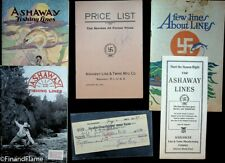 Vintage Zane Grey Estate Items Ashaway Line Catalogs, Check & Letter of P SJE372