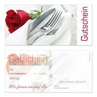 50 Premium Geschenkgutscheine-223 Din Lang Neutral für Gastronomie Restaurant
