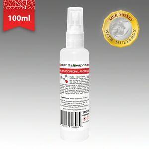 ISOPROPYL ALCOHOL 99.9% 100ML BOTTLE SPRAY CAP ✅ SAME DAY DISPATCH