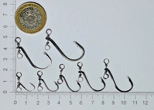 Out Turned Eye Swivel Hooks For Drop Shot LRF Finesse Lure Fishing - TCG Tackle