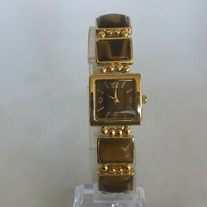 Unbranded Womens Tiger Eye Bracelet Watch Gold Tone Analog Quartz