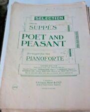 poet and peasant  piano score