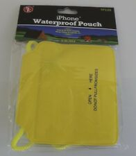 """New 3-3/4"""" x 7-1/4"""" Waterproof Pouch for iPhone Yellow & Clear"""
