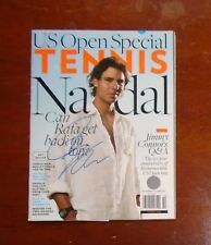 Tennis Magazine US Open hand signed autographed auto by Rafael Nadal