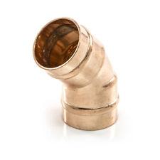NUOVO anello di saldatura idraulica tubo di rame 15 mm 45 Gradi A Gomito Piegare Angolo. UK venditore