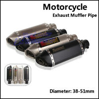 38-51mm Universal Motorcycle Stainless Steel Exhaust Muffler Pipe with DB Killer