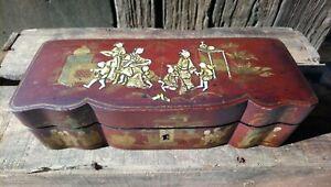 ANCIENNE BOITE à GANTS décor chinois