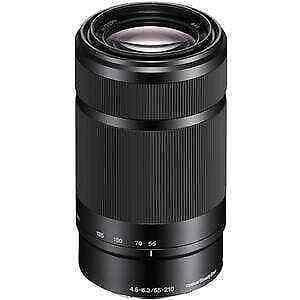 Sony E 55-210mm f/4.5-6.3 BLK Zoom