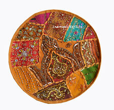 Indian Handmade 16X16 round Cotton Hippie Bohemian Sofa Cushion Cover Home decor