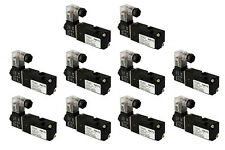 10x 110V AC Solenoid Pneumatic Control Valve 3 Port 3 Way 2 Position 1/8