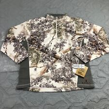 Kings Camo KC1 1/4 Zip Pullover in Snow Shadow Size XL