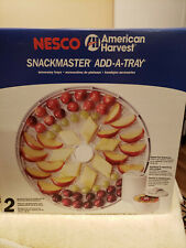 2 Trays Nesco American Harvest Snackmaster Add-A-Tray for Dehydrators , Set of 2