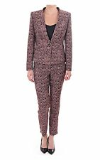 """TED BAKER """"KAHEIT"""" BLACK & PINK JACQUARD OCCASION  TROUSERS BNWT UK12 /3"""