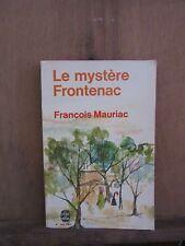 François Mauriac/ Le mystère Frontenac/ Bernard Grasset, 1933