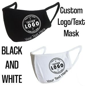 Personalized Face mask Reusable Custom any Name Text or Logo