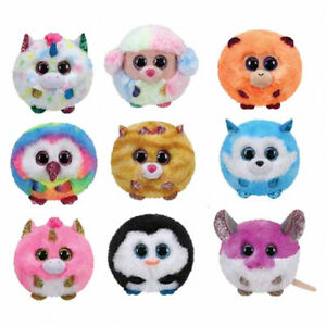 NEW OFFICIAL TY PUFFIES SOFT PLUSH TOY HARMONIE COLBY COCONUT WADDLES OWEN BNWT