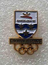 olympic pin  NOC CAYMAN ISLANDS 1992 BARCELONA SPAIN very  rare