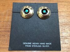 Sterling Silver Post Earrings Native American Shadow Box