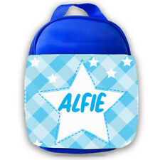 Personalised Kids Lunch Bag Any Name Star Design Childrens Boys School Snack 2