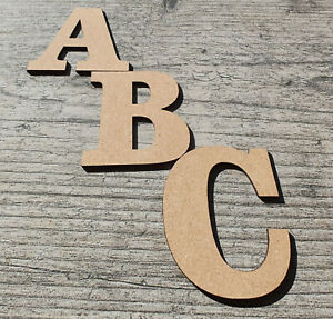 Wooden Letters MDF Large 3-30cm High (3mm Thick) Birthday Craft Art Decoration