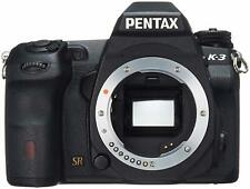 PENTAX DSLR Camera K-3 Body Black Low Pass Selector Up to 8.3 frames/s Up to