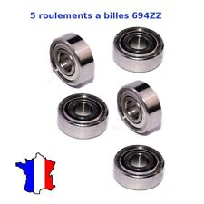 5 x Ball Bearing 694 ZZ, Roulement à Billes 4 x 11 x 4mm 694ZZ , 4*11*4mm