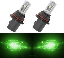 LED 30W 9004 HB1 Green Two Bulbs Head Light Replacement Show Use Off Road