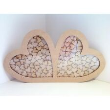 Double Heart Wedding drop box guest book alternative - WDB3 - 30mm Hearts