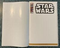 STAR WARS #108 RARE BLANK SKETCH VARIANT COVER! + BONUS #107 TRUE BELIEVERS RP