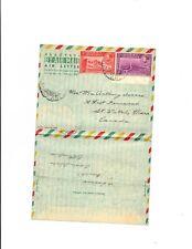 Ethiopia 1950 to Canada Aerogramme Forerunner