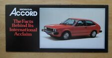 HONDA RANGE orig 1978-79 UK Mkt Sales Brochure - Civic Accord 1st Gen