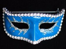 BLUE THEATER MUSICAL NEW YEARS EVE MARDI GRAS MASQUERADE PARTY MASK PIN BROOCH 2