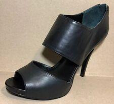 Nine West Women Shoes Sz 6.5 M Black Leather Heel Platform Pumps Pip Toe Booties