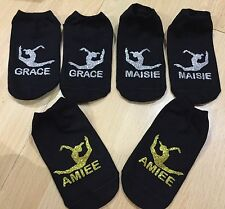 Gymnastics Trainer Liner Training Socks Squad Gift PERSONALISED (RL+name)