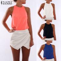 T Tank Casual Sleeveless Shirt Top Women Vest Blouse Summer Tops Fashion Chiffon