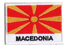 Patch écusson patche MACEDOINE Macédoine 70 x 45 mm Pays Monde coudre
