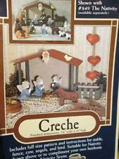 Creche Craft Pattern #860-Home Folk/Donna Gallagher Creative Needlearts-Stable/F
