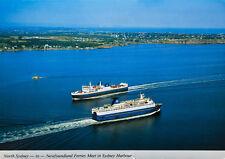 North Sydney Nova Scotia NS Harbour Ferries Ships Unused Vintage Postcard D34