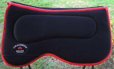 Equine Western Horse Saddle Pad Anti slip Memory Foam Black Red Light 3960