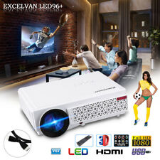 FHD 1080P 5000 Lumens LCD LED 3D Beamer Heimkino Projektor 1280*800 HDMI/USB/VGA