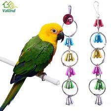 Parrot Uccellino Giocattoli Anello Metallico Bell Appendere Gabbia Giocattoli Per Pappagallo Scoiattolo PAPPAGALLINO