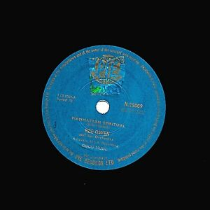 SCARCE 1959 UK #20 HIT REG OWEN 78  MANHATTAN SPIRITUAL  PYE INTERNAT N 25009 E-