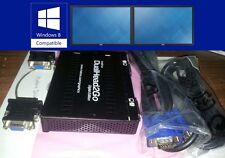 Matrox DualHead2Go Dual View Digital DVI VGA Ext USB Win8 Vista Video Card + Cbl