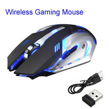 Rechargeable X7 Wireless Silent LED Backlit USB Optical Ergonomic Gaming Mouse.